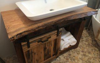 Sliding Door Bathroom Vanity