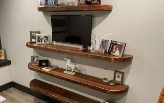 Rustic Plank Shelves